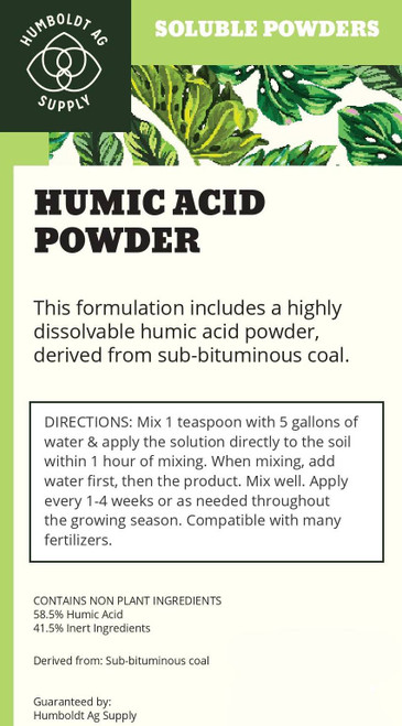 Humboldt Ag Supply:  Humic Acid Powder 1lb