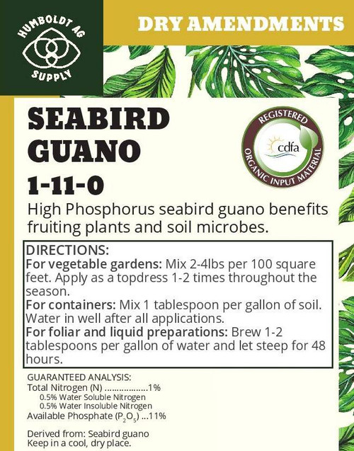 Humboldt Ag Supply:  Seabird Guano 50lb (1-11-0)