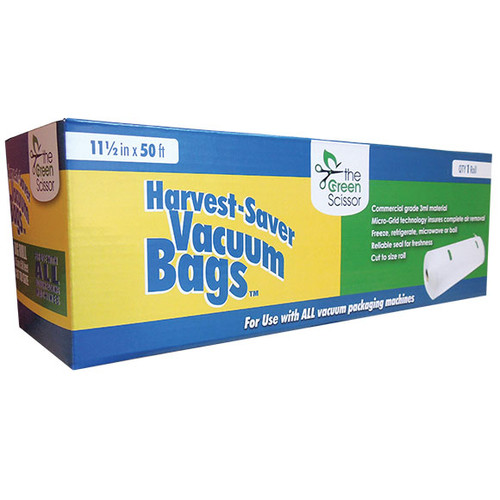 Green Scissor Harvest Saver Vaccum Bag Roll 11.5in W x 50ft L