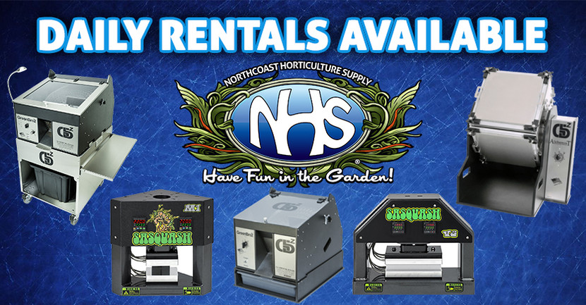 Trimming Machine & Rosin Press Daily Rentals at NHS