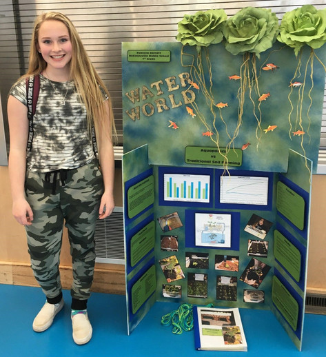 NHS Helps Out Middle School Student Science Project