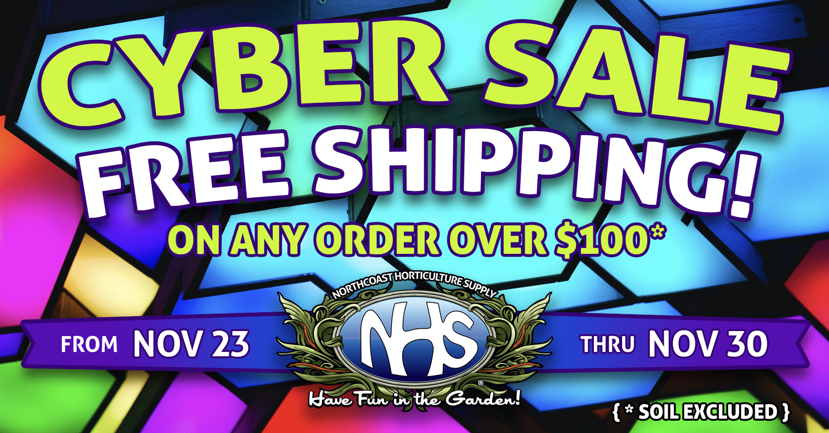 Cyber Sale - Free Shipping November 23-30th