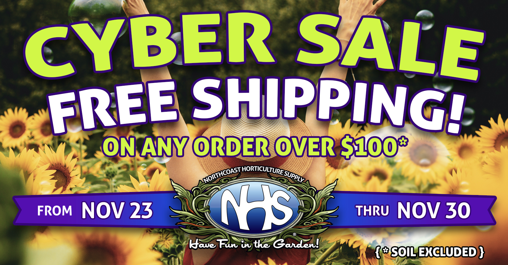 Cyber Sale - Free Shipping November 23-30