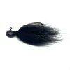 Black Hair Jig 1/4oz - Bass Fishing Hair jig for smallmouth bass, walleye, and many other game fish
