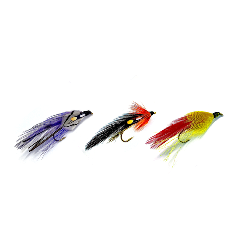 Trio preview of Streamers, available in numerous colors from Rapid Baits