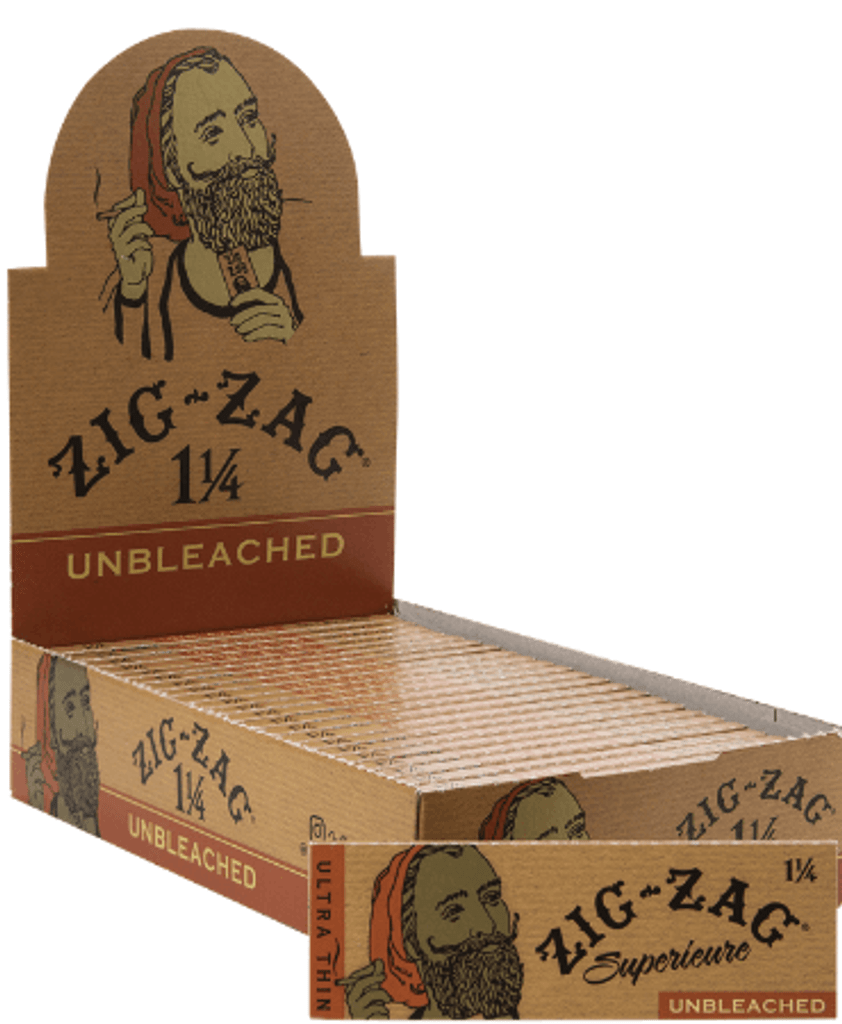 ZIG ZAG Unbleached 1 1/4 (24 Booklets)