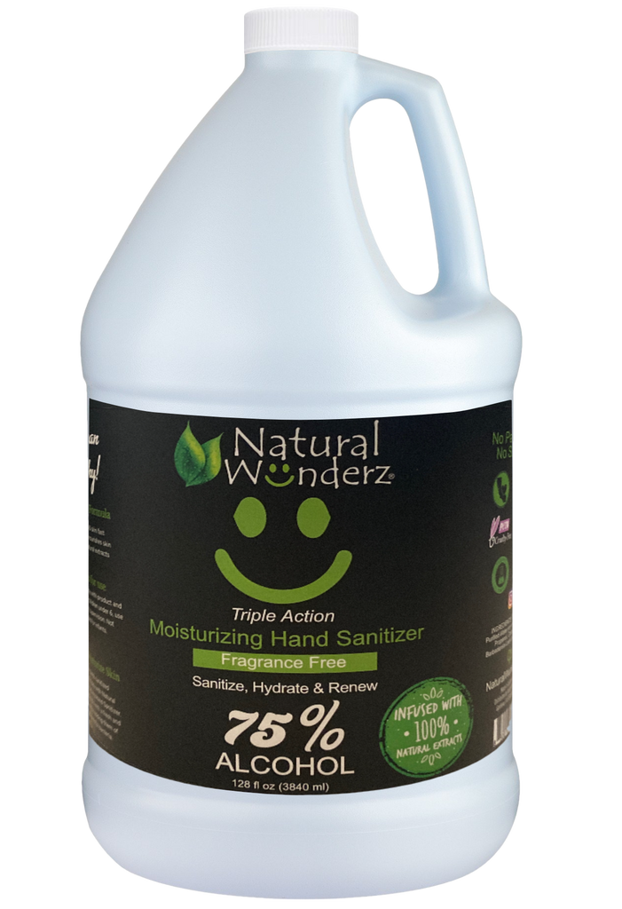 Fragrance Free Hand Sanitizer 75 percent alcohol 128 ounce - 1 Gallon