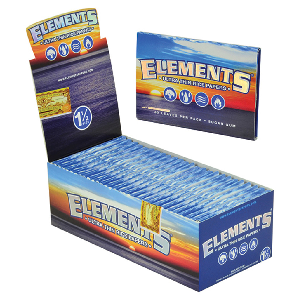 Elements Rice Papers 1 1/2 inch Size 25 pack Retail Display
