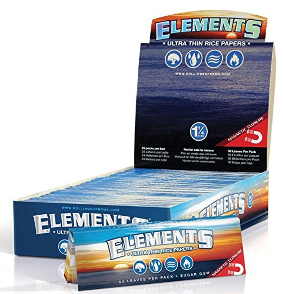 Elements Rice Papers 1 1/4 Size | 25 pk | Retail Display