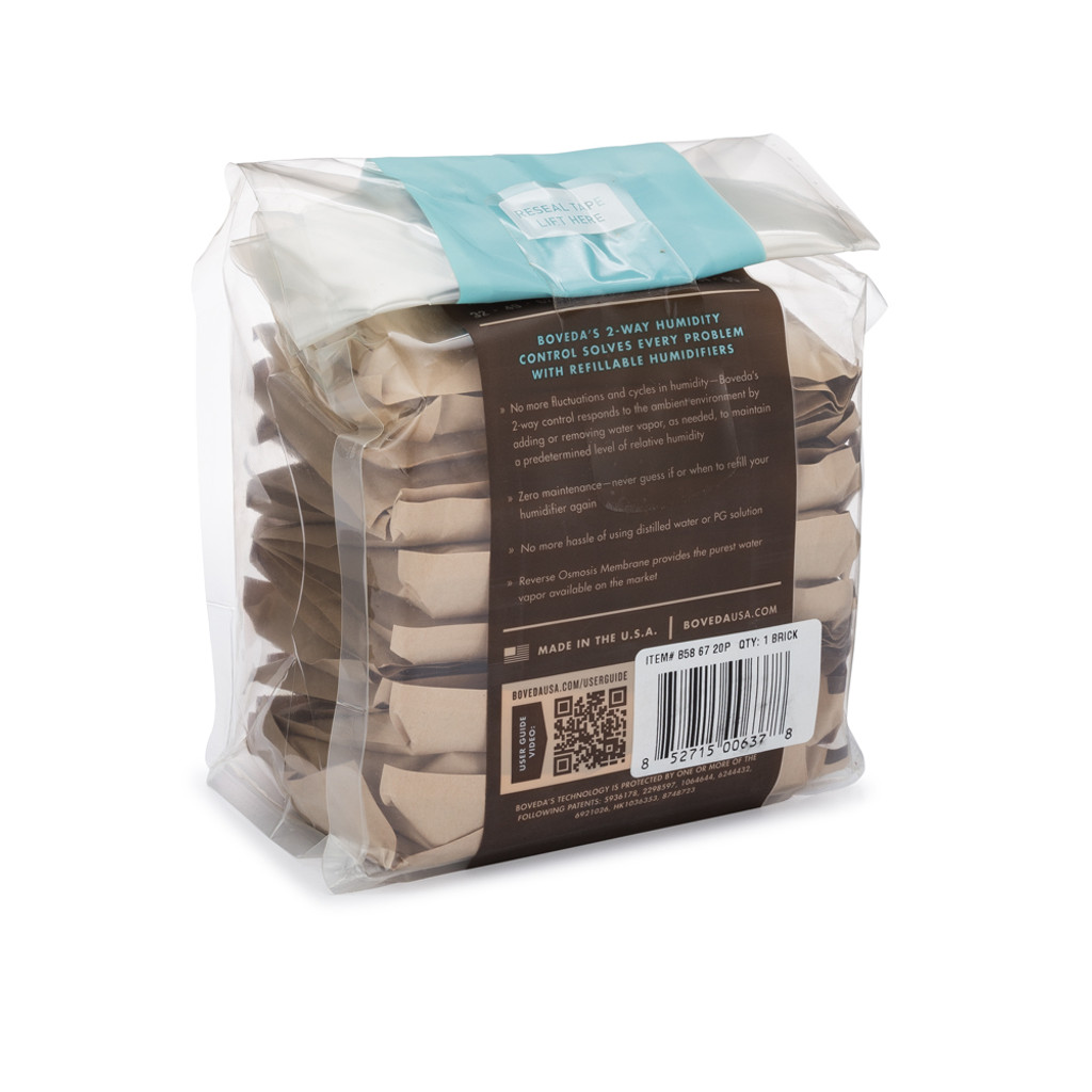 Boveda 67 Gram Brick 58 percent - 67 Grams 20 Pack Brick PROTECTS UP TO 1 POUND