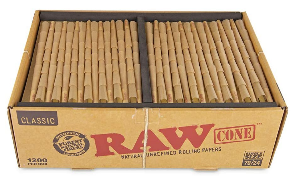 Raw Classic Bulk Pre Rolled Cones 70 millimeter 1200 count