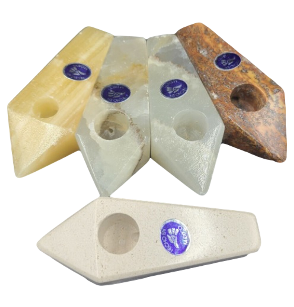 """2.75"""" Natural Stone Pipe Assorted Colors and Stones"""