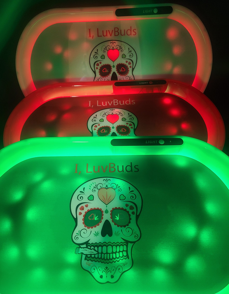 """""""I, LuvBuds"""" LED GLOW TRAY 
