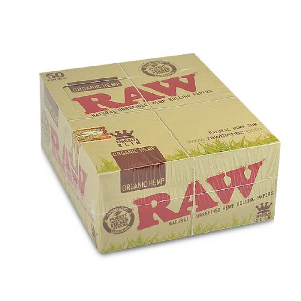 RAW Organic Hemp - King Size Slim | 50 pk | Retail Display