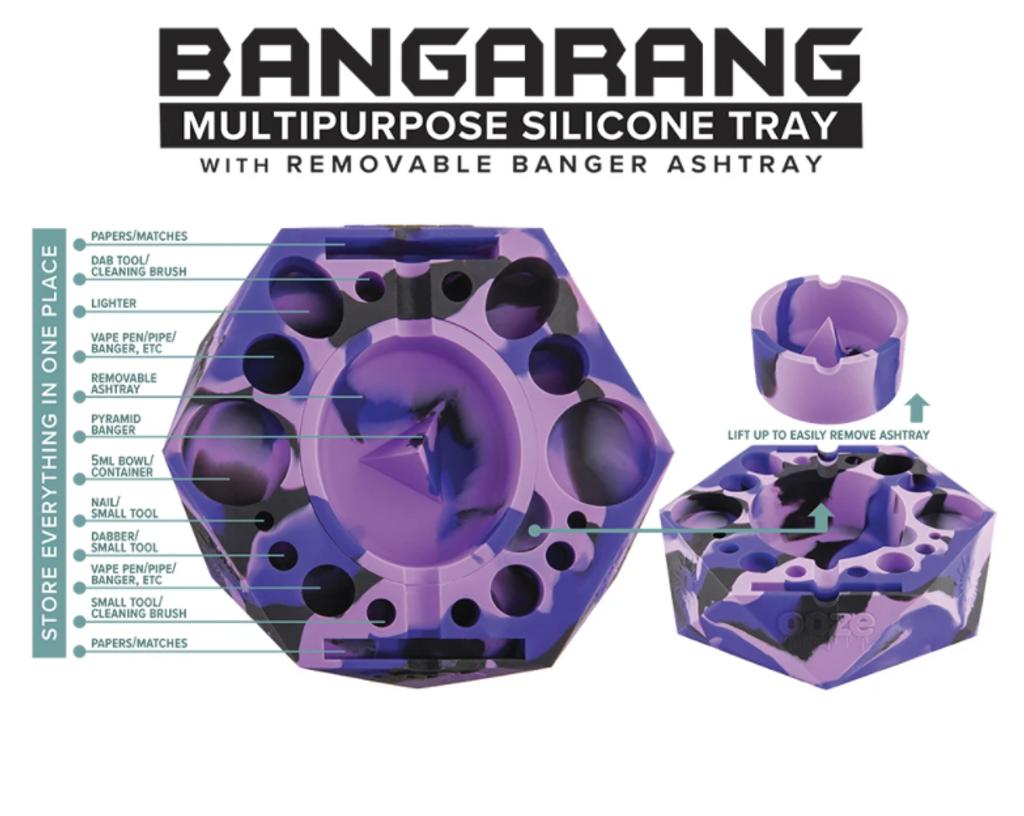 Ooze Bangarang   Silicone Dab Station/Ash Tray/Debowler   Assorted Colors