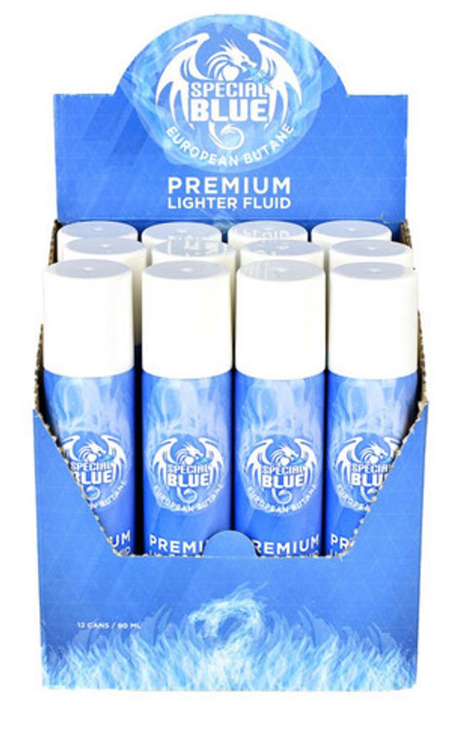 Special Blue 90 ml Butane lighter fluid | 12 pack
