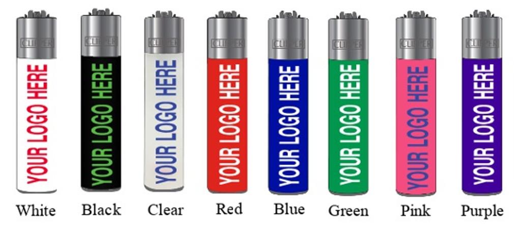 Custom Clipper Lighter   480 pcs per Unit   10 racks of 48 lighters