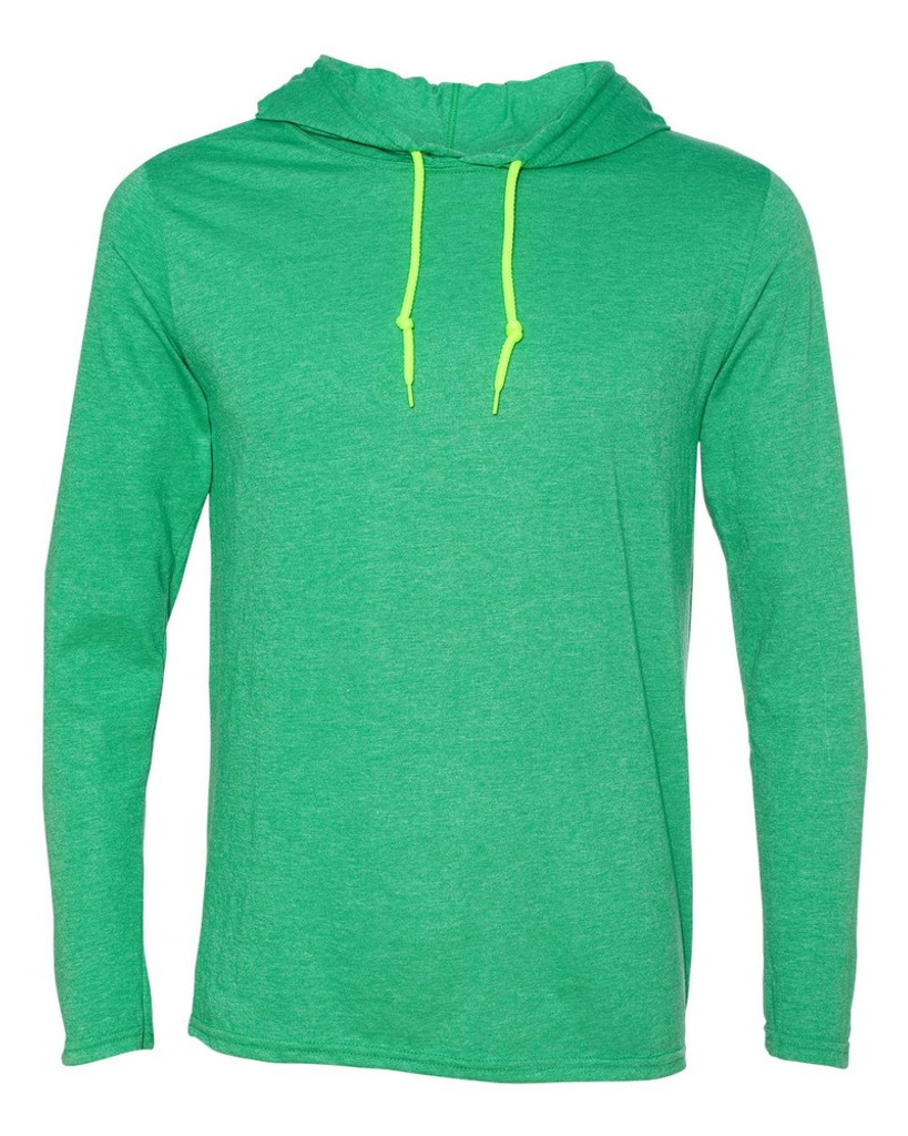 Custom Mens Lightweight Long Sleeve Hoodie | Anvil 60/40
