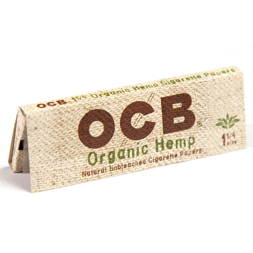 OCB Organic Hemp 1 1/4 Size | 24 books per case | Retail Display