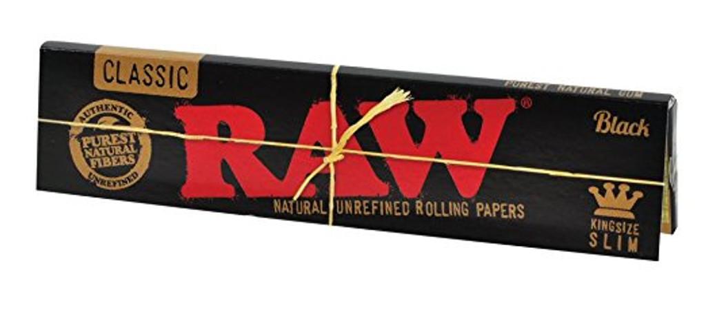 RAW Classic Black - King Size Slim 50 pack Retail Display