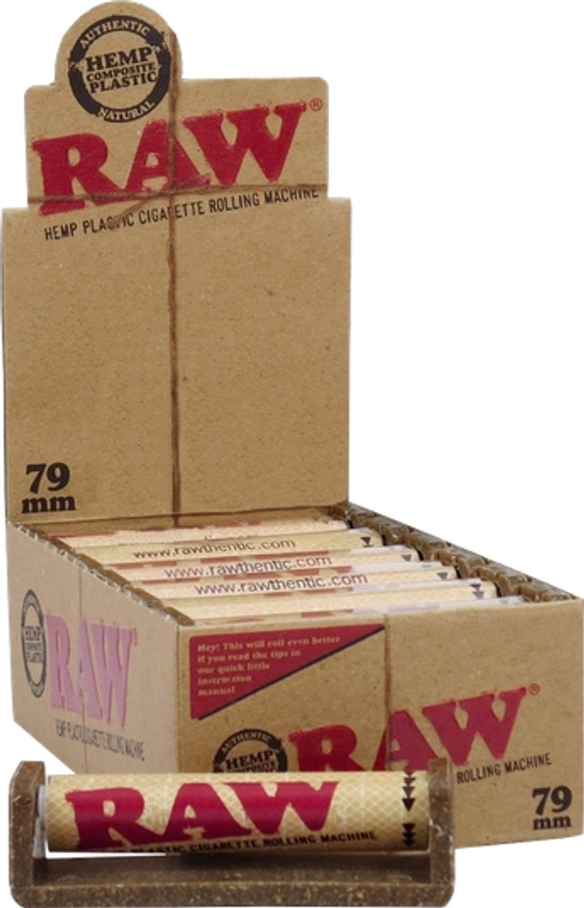 Raw 79mm Rolling Machine | 12 pack | Retail Packaging