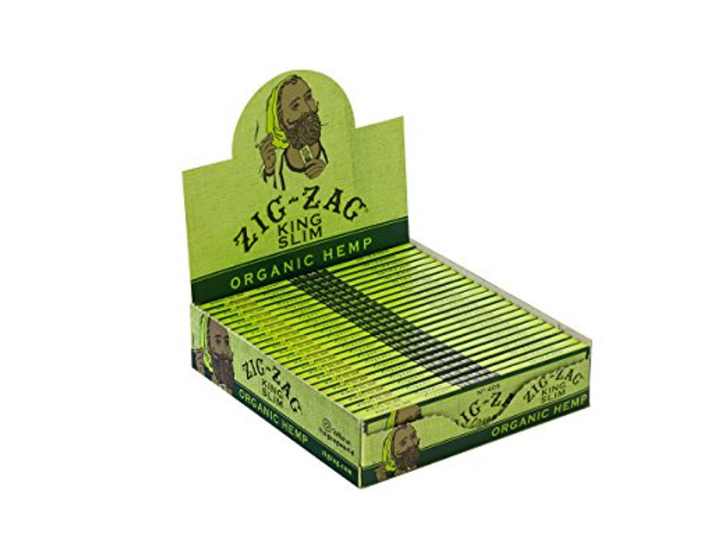 Zig Zag Organic Hemp King Size Rolling Papers | 24 Packs per Box