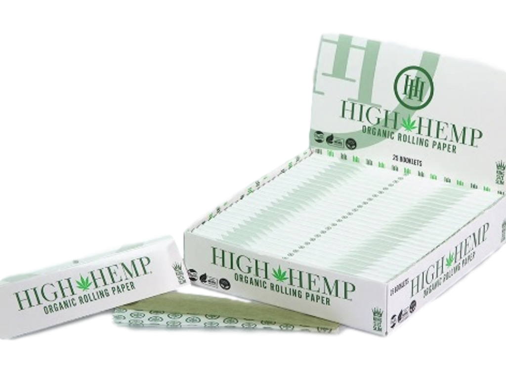 High Hemp King Size  Rolling Papers | 25 Books per Box | 32 sheets per Book | Retail Display