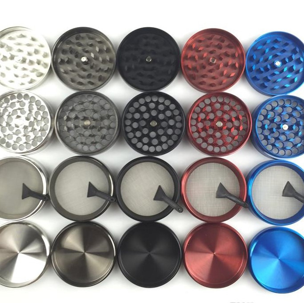 50mm Zinc 4 pc. Grinder | Assorted Colors