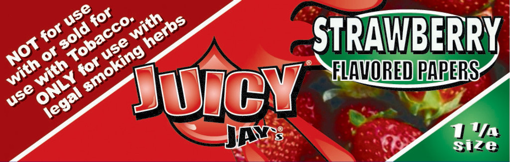 Juicy Jay's 1 1/4 | Strawberry | 24 books per box