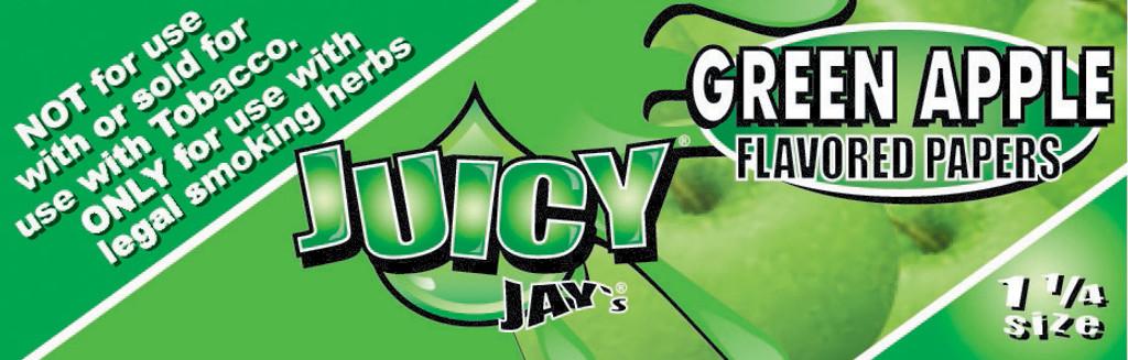 Juicy Jay's 1 1/4 | Green Apple | 24 books per box
