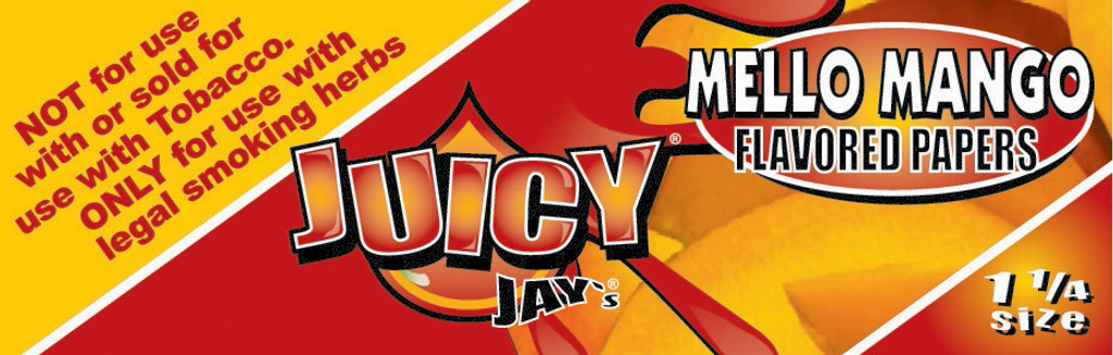 Juicy Jay's 1 1/4 | Mango | 24 books per box