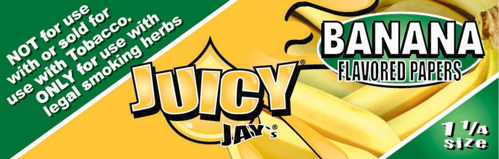 Juicy Jay's 1 1/4 | Banana | 24 books per box