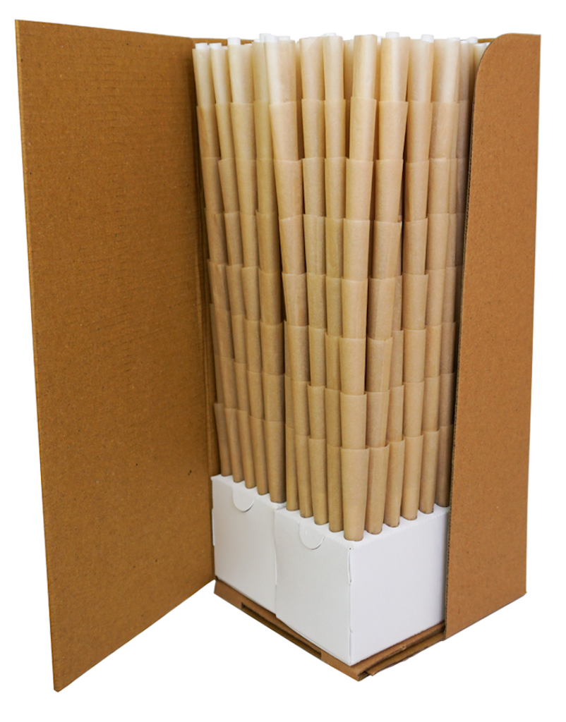 BLANK Pre-Rolled Cones 84mm/26mm crutch - Tan/Brn | 800 cones per box