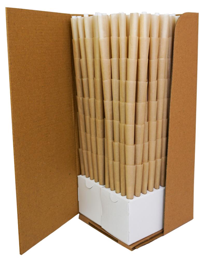BLANK Pre-Rolled Cones 98mm/26mm crutch - Tan/Brn   800 cones per box