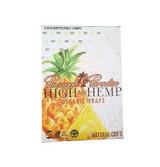 High Hemp Wraps Organic PINEAPPLE PARADISE 25 Pouches per Box 2 Wraps per Pouch