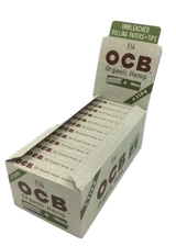 OCB Organic 1 1/4 inch Rolling Papers and Tips 24 books