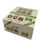 OCB Organic King size Slim Papers and Tips 24 books