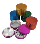 40 millimeter Colored 4 Piece Aluminum Grinder Assorted Colors