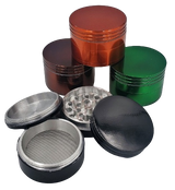 50 millimeter Colored 4 piece Aluminum Grinder Assorted Colors
