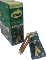 Endo Russian Cream Hemp Wraps with Wooden Tip 15 Pouches 2 Wraps per Pouch
