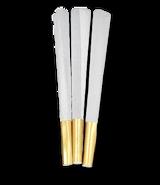 GOLD FOIL TIPPED CRUTCH - BLANK Pre Rolled Cones 109 millimeter - White Rice Paper 800 cones per box