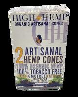 High Hemp GRAPE APE Artisanal Hemp Cones 15 Pouches 2 Cones per pouch