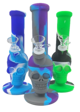 8 inch Silicone Skull Bong Assorted Colors