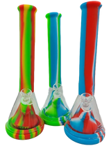 """14"""" Silicone Beaker Bong with Glass"""