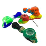 """4"""" Silicone Skull Hand Pipe Glass Bowl 