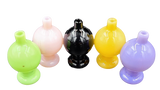 Flat Top Pyrex Bubble Carb Cap | Solid Colors | Assorted Colors