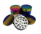 40 millimeters Technicolor 4 piece Grinder Assorted Color Combinations