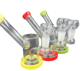 5 inch Side Car Hanger Rigs Bongs Assorted Colors Comes with a Flower Bowl