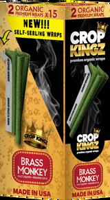 CROP KINGZ - BRASS MONKEY Malt Liquor and Orange Juice Self Sealing - Organic Hemp Wraps 2 wraps per pouch 15 Pouches per Box