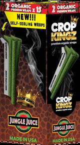 CROP KINGZ - JUNGLE JUICE Honeydew Strawberry Self Sealing - Organic Hemp Wraps 2 wraps per pouch 15 Pouches per Box